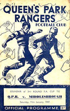 QPR v. Middlesbrough programme 1947