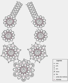 Gargantilla Mandalas Crochet Patron - Patrones Crochet