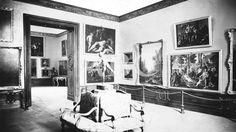 Madrid, 19/05/1920. Vista de una de las nuevas salas de pintura francesa recién inauguradas en el Museo del Prado