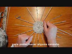 COMO TEJER, ENSAMBLAR Y DECORAR JAULAS ESTILO VINTAGE  DE PAPEL RECICLADO - YouTube