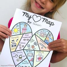 Teach children about emotions with activities to identify, express, and manage their feelings appropriately in school and the classroom using tools like an I feel chart for kids and a heart map. This is a powerful step towards self-regulation, self-control, and a positive mindset. #emotions #classroommanagement #teacherfreebie #socialresponsibility #socialemotionallearning Teaching Respect, Teaching Emotions, Teaching Social Skills, Social Emotional Learning, Teaching Kids, Heart Map Writing, Kids Writing, Map Activities, Kindergarten Activities