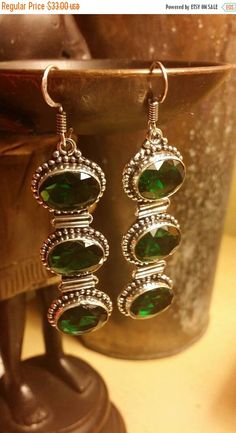 Check out this item in my Etsy shop https://www.etsy.com/listing/424911190/inventory-clearance-sale-earrings-green