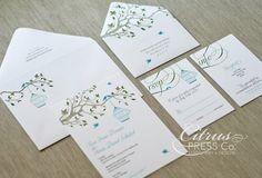 Birdcage Invitation Wedding Invite / Save the Date / or DIY PDF printable on Etsy, $3.95