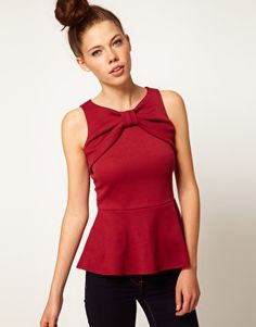 $35 but worth it!  A Wear Bow Peplum Top from ASOS