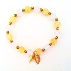 Rose quarzt and orange calcite: Love and Confidence Yoga Armband, Gemstone Bracelets, Confidence, Jewellery, Gemstones, Gold, Change, Pink Quartz, Jewels