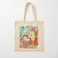 Mermaid Marina  Cotton Tote Bag Cotton Tote Bags, Reusable Tote Bags, Mermaid Artwork, Mermaid Quotes, Mermaid Illustration, Watercolor Mermaid, Mermaid Tale, Mermaid Gifts, Watercolors