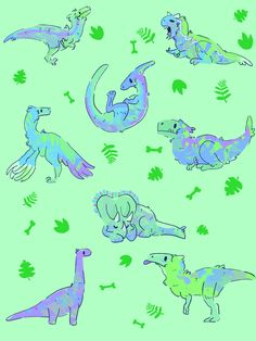 doodlize🕳 — A feathered dinosaur wallpaper I finished, free to...