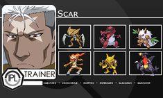 Trainer Cards Fullmetal Alchemist : Scar by on DeviantArt Lan Fan, Pokemon Sprites, Names Of Artists, Fullmetal Alchemist Brotherhood, The Brethren, Character Description, Drawing Tools, My Friend, Trainers