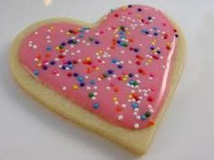 Sugar Cookies with frosting that hardens.