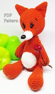 Fox Pattern Crochet fox Knitting pattern Crochet pattern