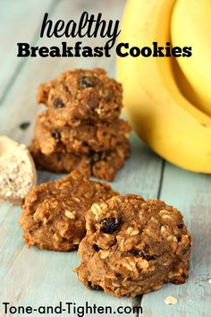 Healthy Oatmeal Breakfast Cookies on Tone-and-Tighten.com - perfect for on-the-go breakfasts!