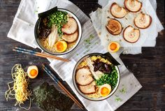 Tonkotsu Ramen - Rich, delicious pork & chicken broth with fresh noodles, soft yolk eggs & smelt in the mouth pork belly. The ultimate comfort food.