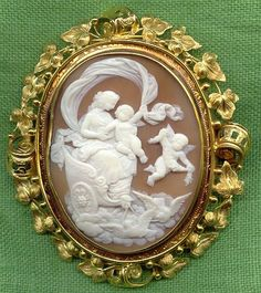 Shell Cameo is French Circa 1840/1850