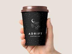 3 - Coffee Icon - Ideas of Coffee Icon - Adrift Coffee Company Pt. Coffee Shop Branding, Coffee Logo, Coffee Packaging, Coffee Cafe, Coffee Drinks, Coffe Cups, Chocolate Packaging, Bottle Packaging, Coffee Shop Interior Design