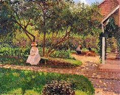 Camille Pissarro Angolo del Giardino, Éragny 1897 - collezione privata
