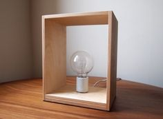 Birch plywood lamps by Vitrine, minimal and functional.  A DIY project, as they only made 20 Stacks