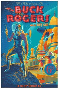 New Buck Rogers posters by Laurent Durieux. ( Retro Futurism / Vintage Comic Book / Vintage Illustration / Future )