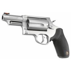 Taurus Judge Stainless/Black Single/Double-Action Revolver by Taurus at Fleet Farm Survival Weapons, Survival Knife, Taurus Judge, Black Singles, Cool Inventions, Guns And Ammo, Tactical Gear, Firearms, Hand Guns
