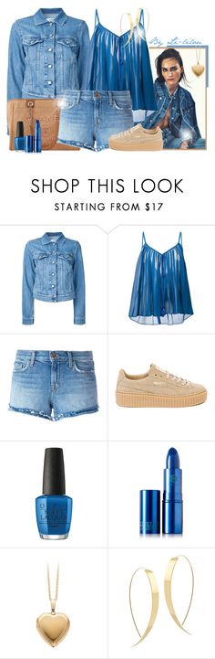 """""""~Blue jean~"""" by li-lilou ❤ liked on Polyvore featuring Closed, Chanel, Roberto Cavalli, J Brand, Puma, OPI, Lipstick Queen and Lana"""