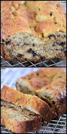 One Bowl Chocolate Chip Banana Bread Chocolate Chip Banana Bread, Mini Chocolate Chips, Banana Bread Ingredients, Muffin Bread, Bread Cake, Moist Cakes, Tea Cakes, Bread Rolls, Dessert Recipes