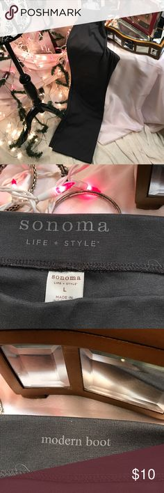 Pants Modern boot cut grey pants with stretch Sonoma Pants Boot Cut & Flare