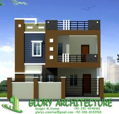 house elevation, islamabad house elevation, Pakistan house elevation – Home decoration ideas and garde ideas House Front Wall Design, Single Floor House Design, Village House Design, House Wall, 2bhk House Plan, 3d House Plans, Model House Plan, Modern Exterior House Designs, Modern Small House Design