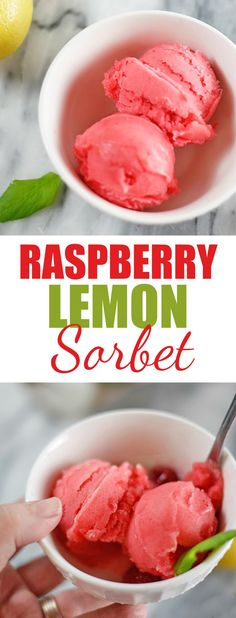 This Raspberry Lemon Sorbet with @SPLENDA is so creamy, light,