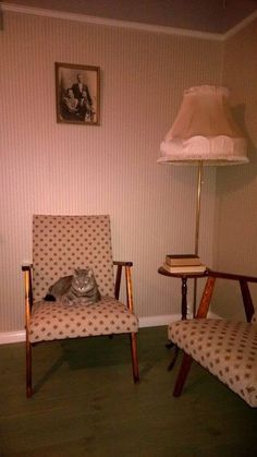 This is a corner in our dining room. Vintage style. I got these chairs from my aunt and I just love them.