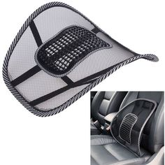 VODOOL Car Seat Cover Comfort car massage seat Cushion Lumbar support for office chair Back Waist Brace Support Car Cushion Pad