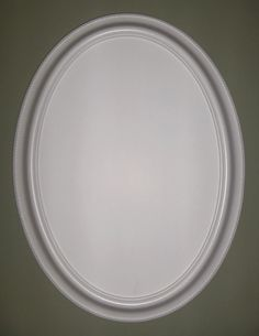 White frame oval mirror. (vanity mirror, bathroom mirror, shabby chic mirror, nursery mirror,