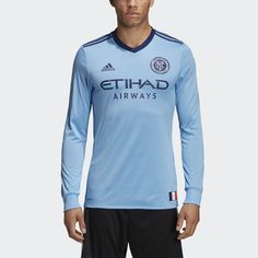 d454f0bc4 New York City FC Home Authentic Jersey Blue 2XL Mens New York City Fc,  Blue. adidas United States