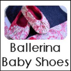 Baby ballerina shoes tutorial... Adorable!