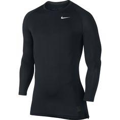 d1660081 Men's Nike Pro Cool Compression Top Black/Dark Grey/White Size XX-Large