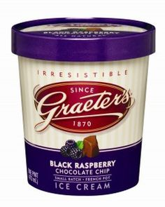 Graeter's ice cream- hands down, my favorite brand and flavor-black raspberry chocolate chip!