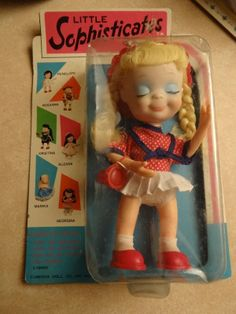 "Vtg Uneeda Little Sophisticates Rosanna - 8 1/2"" 1967 in Package MIP"