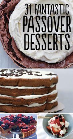 31 Fantastic Passover Desserts