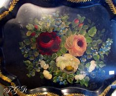 A to die for Tole Tray, below, how beautiful is that hand painting?