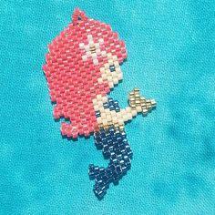 Little mermaid collection: Memory  #mermaid #mermaidjewelry #brickstitch #beadwork #beadedmermaid #beadedjewelry #miyukibeads #miyuki #miyukidelica #delicaseedbeads #delicas