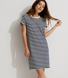 THE perfect striped t-shirt dress for your closet! And it is 50% off! Via @louandgrey