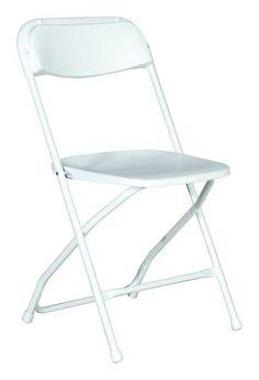 Rhino Series White Plastic Folding Chair   800 Lb. Capacity   Rental Style