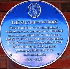 Blue Plaque For Olympia Works Roundhay Park Leeds