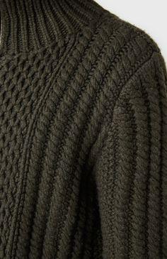 66f75d873a3 Lattice Knit Zip Cardigan In Khaki Lace Cardigan
