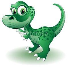 #Cute #Baby #Dinosaur-#Vector © bluedarkat    http://it.fotolia.com/id/34659784#