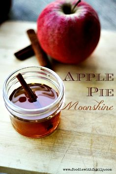 Apple Pie Moonshine at www.foodiewithfamily.com @Christina Childress & Lindamood || Foodie with Family, omg this looks awesome