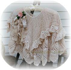 Shawl Vintage Lace Shabby Delicate Edwardian by auntcarriesattic, $175.00