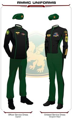 Royal Manticoran Marine Corps sergeant uniform