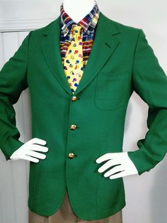 Vintage Iconic IZOD LACOSTE 1970s Classic Green Alligator Gold button blazer in Clothing, Shoes & Accessories, Vintage, Men's Vintage Clothing | eBay