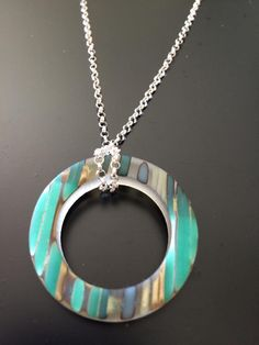 Handmade, fused glass jewelry by Miss Olivia's Line. #MOL #circles Additional items posted at https://www.facebook.com/MissOliviasLine