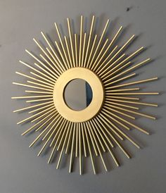 Gold Sunburst mirror  lateindadecoideas@gmail.com