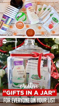 Gift baskets have been done to death, so give a gift in a jar this year! Check out these 10 creative ideas for heartfelt holiday gifts packed up in a jar. Christmas Gifts For Coworkers, Christmas Gift Baskets, Homemade Christmas Gifts, Homemade Gifts, Christmas Ideas, Christmas Crafts, Christmas Eve, Holiday Ideas, Holiday Gifts